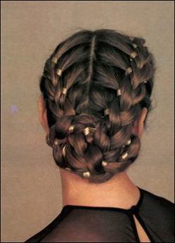 Французские косы с лентой