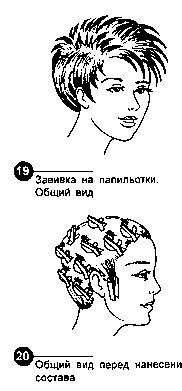Завивка на папильотки