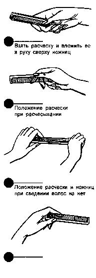 Как держать расческу