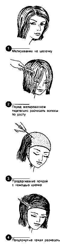 Мелирование на шапочку