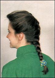 Слабо заплетенная французская коса
