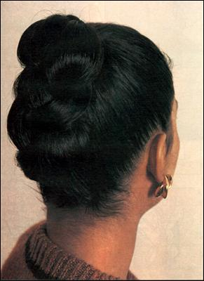Подобранная простая коса